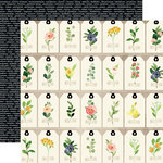 Carta Bella Paper - Spring Market Collection - 12 x 12 Double Sided Paper - Floral Tags