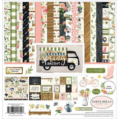 Carta Bella Paper - Spring Market Collection - 12 x 12 Collection Kit