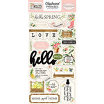 Carta Bella Paper - Spring Market Collection - Chipboard Stickers - Phrases