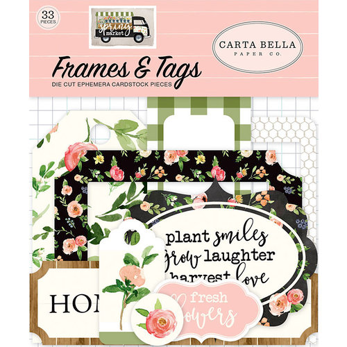 Carta Bella Paper - Spring Market Collection - Ephemera - Frames and Tags
