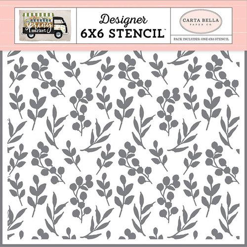 Carta Bella Paper - Spring Market Collection - 6 x 6 Stencil - Market Branches