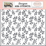 Carta Bella Paper - Spring Market Collection - 6 x 6 Stencil - Market Branches