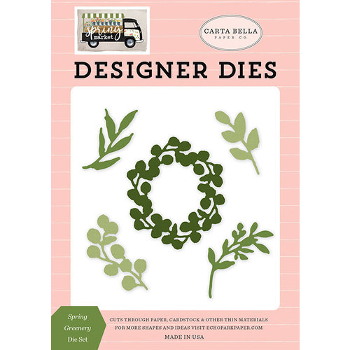 Carta Bella Paper - Spring Market Collection - Designer Dies - Spring Greenery