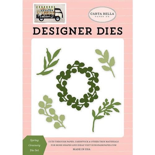 Carta Bella Paper - Spring Market Collection - Designer Dies - Spring Greenery