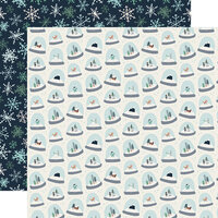 Carta Bella Paper - Christmas - Snow Much Fun Collection - 12 x 12 Double Sided Paper - Snow Globes