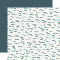 Carta Bella Paper - Christmas - Snow Much Fun Collection - 12 x 12 Double Sided Paper - Winter Words