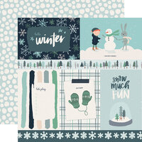 Carta Bella Paper - Christmas - Snow Much Fun Collection - 12 x 12 Double Sided Paper - 4 x 6 Journaling Cards
