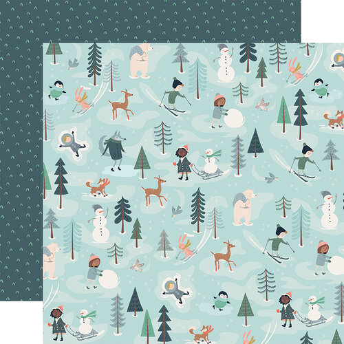 Carta Bella Paper - Christmas - Snow Much Fun Collection - 12 x 12 Double Sided Paper - Fun With Friends