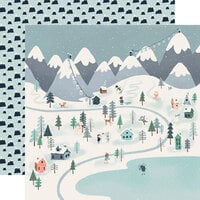 Carta Bella Paper - Christmas - Snow Much Fun Collection - 12 x 12 Double Sided Paper - Winter Town