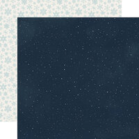 Carta Bella Paper - Christmas - Snow Much Fun Collection - 12 x 12 Double Sided Paper - Snowy Night