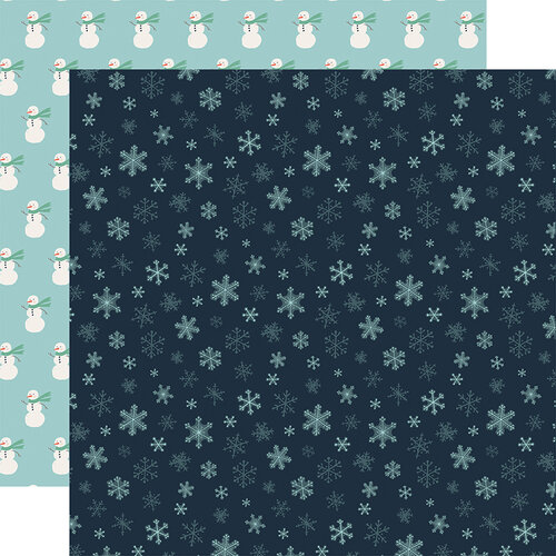 Carta Bella Paper - Christmas - Snow Much Fun Collection - 12 x 12 Double Sided Paper - Snowflakes