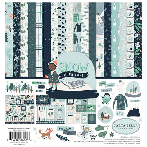 Carta Bella Paper - Christmas - Snow Much Fun Collection - 12 x 12  Collection Kit