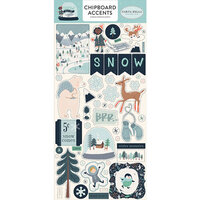Carta Bella Paper - Christmas - Snow Much Fun Collection - Chipboard Stickers - Accents