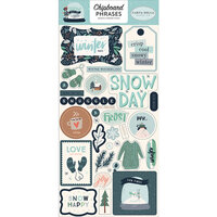Carta Bella Paper - Christmas - Snow Much Fun Collection - Chipboard Stickers - Phrases