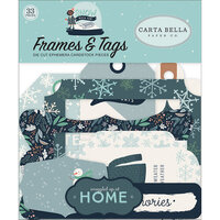 Carta Bella Paper - Christmas - Snow Much Fun Collection - Ephemera - Frames and Tags