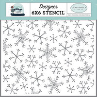 Carta Bella Paper - Christmas - Snow Much Fun Collection - 6 x 6 Stencil - Snowflake Fun