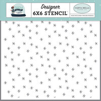 Carta Bella Paper - Christmas - Snow Much Fun Collection - 6 x 6 Stencil - Wonderland Frost