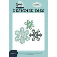 Carta Bella Paper - Christmas - Snow Much Fun Collection - Designer Dies - Frosty Snowflake Trio