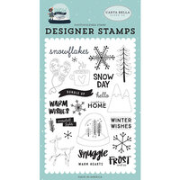 Carta Bella Paper - Christmas - Snow Much Fun Collection - Clear Photopolymer Stamps - Frost and Ice