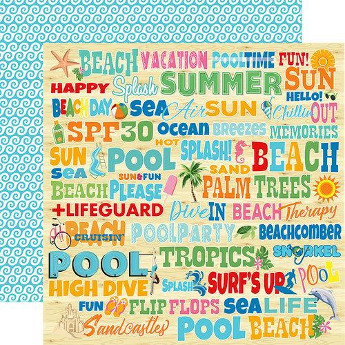 Carta Bella Paper - Summer Splash Collection - 12 x 12 Double Sided Paper - Splash Words