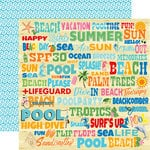 Carta Bella Paper - Summer Splash Collection - 12 x 12 Double Sided Paper - Splash Words