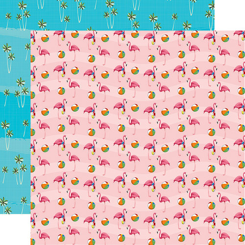 Carta Bella Paper - Summer Splash Collection - 12 x 12 Double Sided Paper - Flamingo Fun