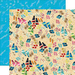 Carta Bella Paper - Summer Splash Collection - 12 x 12 Double Sided Paper - Toes in the Sand