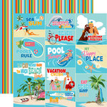 Carta Bella Paper - Summer Splash Collection - 12 x 12 Double Sided Paper - Scene Journaling Cards