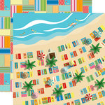 Carta Bella Paper - Summer Splash Collection - 12 x 12 Double Sided Paper - Seaside