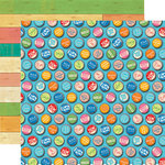 Carta Bella Paper - Summer Splash Collection - 12 x 12 Double Sided Paper - Bottle Caps