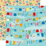 Carta Bella Paper - Summer Splash Collection - 12 x 12 Double Sided Paper - Beach Day