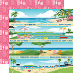 Carta Bella Paper - Summer Splash Collection - 12 x 12 Double Sided Paper - Border Strips
