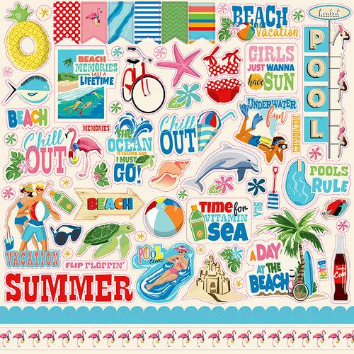 Carta Bella Paper - Summer Splash Collection - 12 x 12 Cardstock Stickers
