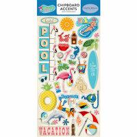 Carta Bella Paper - Summer Splash Collection - Chipboard Stickers - Accents