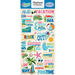 Carta Bella Paper - Summer Splash Collection - Chipboard Stickers - Phrases