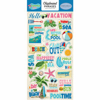 Carta Bella Paper - Summer Splash Collection - Chipboard Stickers - Phrases