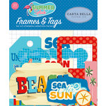 Carta Bella Paper - Summer Splash Collection - Ephemera - Frames and Tags