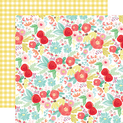 Carta Bella Paper - Summer Market Collection - 12 x 12 Double Sided Paper - Summer Day Floral