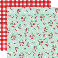Carta Bella Paper - Summer Market Collection - 12 x 12 Double Sided Paper - Strawberries
