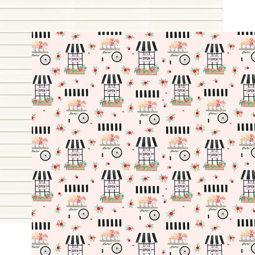 Carta Bella Paper - Summer Market Collection - 12 x 12 Double Sided Paper - Fun In The Sun