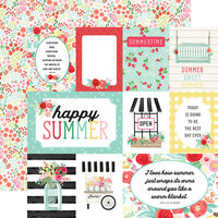 Carta Bella Paper - Summer Market Collection - 12 x 12 Double Sided Paper - Journaling Cards