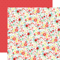 Carta Bella Paper - Summer Market Collection - 12 x 12 Double Sided Paper - Best Summer Floral