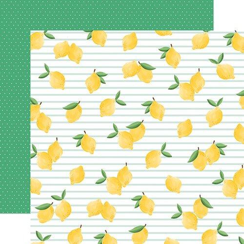 Carta Bella Paper - Summer Market Collection - 12 x 12 Double Sided Paper - Lovely Lemons