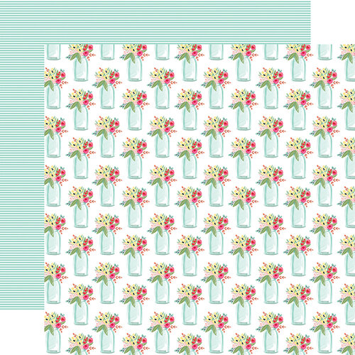 Carta Bella Paper - Summer Market Collection - 12 x 12 Double Sided Paper - Sweet Summer Jars