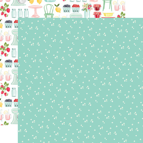 Carta Bella Paper - Summer Market Collection - 12 x 12 Double Sided Paper - Tiny Flowers