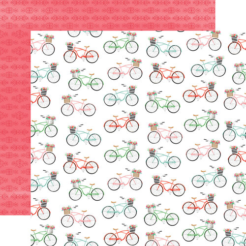 Carta Bella Paper - Summer Market Collection - 12 x 12 Double Sided Paper - Bikes
