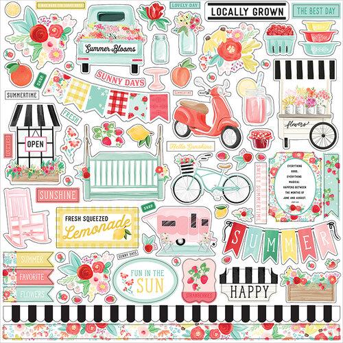 Carta Bella Paper - Summer Market Collection - 12 x 12 Cardstock Stickers - Element