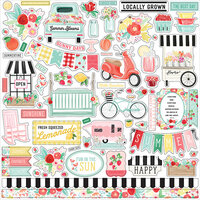 Carta Bella Paper - Summer Market Collection - 12 x 12 Cardstock Stickers - Elements