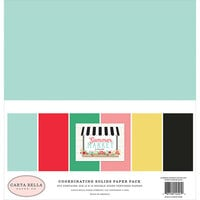 Carta Bella Paper - Summer Market Collection - 12 x 12 Solids Paper Pack
