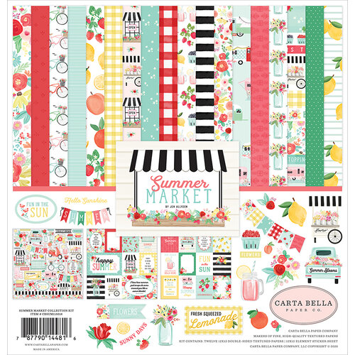 Carta Bella Paper - Summer Market Collection - 12 x 12 Collection Kit